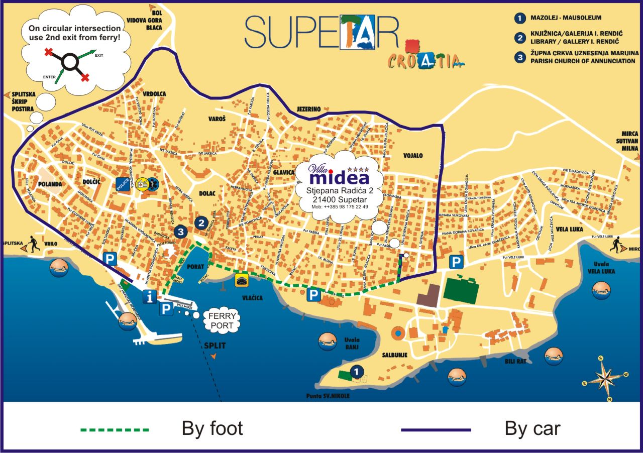Map   How to find Villa Midea 2